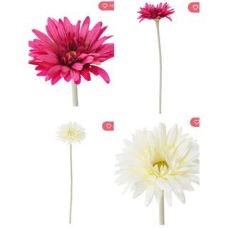フランフラン(Francfranc)のガーベラ アートフラワー ホワイト パープル セット Francfranc 造花(その他)