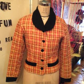 ヴィヴィアンウエストウッド(Vivienne Westwood)の【セール中】ヴィヴィアン風💛チェックジャケット丸襟くびれ💛(テーラードジャケット)