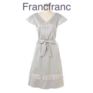 フランフラン(Francfranc)のFrancfranc サテンレースワンピ グレー 新品❣️定価¥5000(ルームウェア)