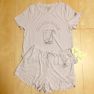 ジェラートピケ(gelato pique)のお値下げ!!ジェラートピケ×スヌーピーTシャツパジャマ☆新品タグ付き(ルームウェア)