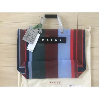 マルニ(Marni)の新品マルニ フラワーマーケット フラワーカフェトートバッグストライプバッグ神崎恵(トートバッグ)