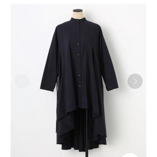 ブラックバイマウジー(BLACK by moussy)のブラックバイマウジー 2way drape long sh op ネイビー(ロングワンピース/マキシワンピース)