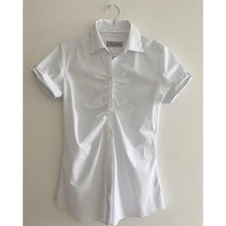 アオヤマ(青山)のLES MUES Femme 洋服の青山レディーススーツ半袖立体シャツストライプ(スーツ)
