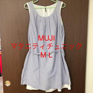 ムジルシリョウヒン(MUJI (無印良品))のMUJI マタニティ チュニック ワンピース M-L 夏用(マタニティトップス)