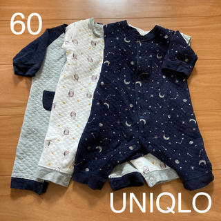 ユニクロ(UNIQLO)のUNIQLOカバーオールセット60(カバーオール)