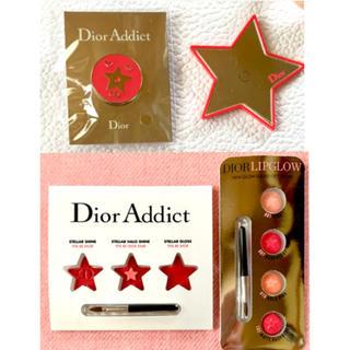 ディオール(Dior)のDior ディオール ノベルティ ピンバッジ 星型ミラー リップサンプル(ノベルティグッズ)