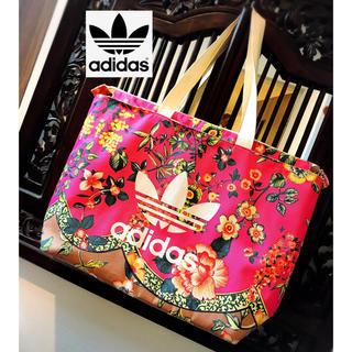 アディダス(adidas)のアディダス adidas 花柄 ピンク 美品 バッグ リュック バックパック  (トートバッグ)