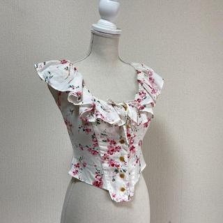 ヴィヴィアンウエストウッド(Vivienne Westwood)のS ヴィヴィアンウエストウッド コットンシャツ イタリア製(シャツ/ブラウス(半袖/袖なし))