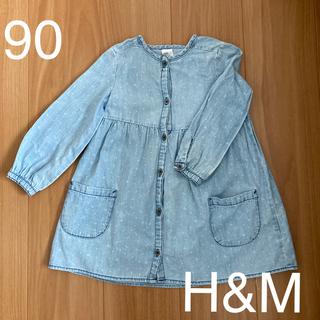 エイチアンドエム(H&M)のH&Mデニムワンピース90(ワンピース)