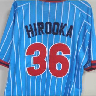 空白1974-77新品▽東京ヤクルトスワローズ廣岡36復刻ユニフォーム野球(ウェア)