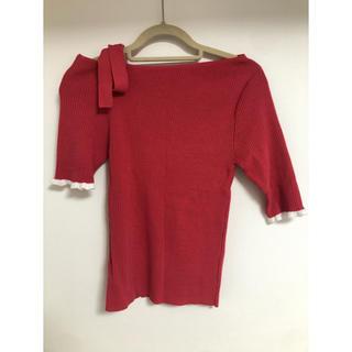 アンドクチュール(And Couture)のアンドクチュール 肩りぼんトップス(カットソー(半袖/袖なし))