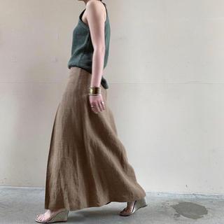 コモリ(COMOLI)のAURALEE リネンマキシスカート(ロングスカート)