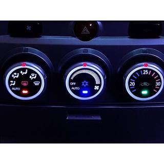 ミツビシ(三菱)のデリカ D:5 CV5W 前期型 エアコンパネル LED打ち替え済み品(車種別パーツ)