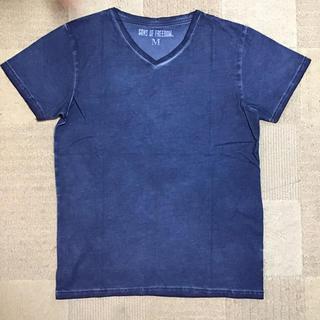 イーブンフロー(evenflo)の新品 メンズ VネックTシャツ サンズオブフリーダム ネイビー Mサイズ送料無料(Tシャツ/カットソー(半袖/袖なし))