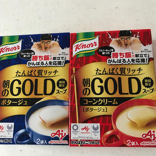 アジノモト(味の素)のクノールたんぱく質リッチ朝のGOLDスープ(インスタント食品)