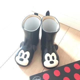 ダイアナ(DIANA)の【新品・未使用】DIANAミッキーブーツ17センチ(長靴/レインシューズ)