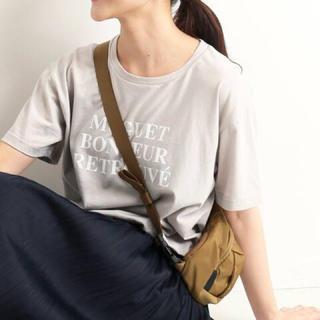 イエナスローブ(IENA SLOBE)の今季最新♪スローブイエナ♪ロゴT♪グレー(Tシャツ(半袖/袖なし))