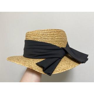 スタディオクリップ(STUDIO CLIP)の麦わら帽子 ラフィアカンカン帽(麦わら帽子/ストローハット)