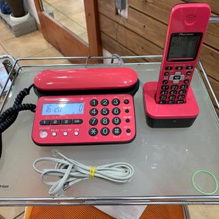 パイオニア(Pioneer)のパイオニア一般電話機子機1台ピンク色(その他)