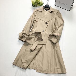 フォクシー(FOXEY)の美品 フォクシー FOXEY 最高級シルク 女優襟 ベルト コート(ロングコート)