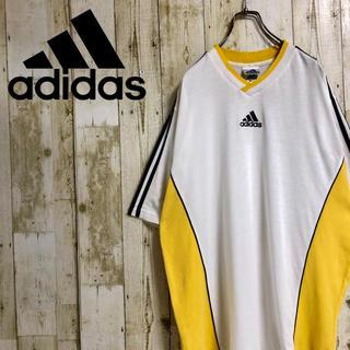 アディダス(adidas)のadidas センターロゴ スリーストライプ メッシュ切替 ビッグサイズ TEE(Tシャツ/カットソー(半袖/袖なし))