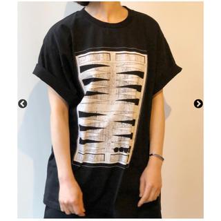 エムエムシックス(MM6)の新品タグ付き!MM6 BACKGAMMON PRINTED TEE roku(Tシャツ(半袖/袖なし))