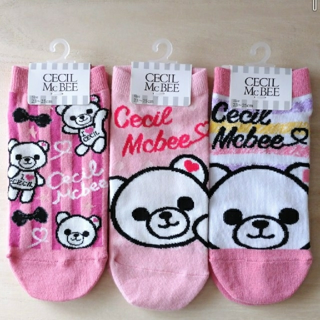CECIL McBEE(セシルマクビー)の【新品タグ付き】 CECIL McBEE 靴下 3足 レディースのレッグウェア(ソックス)の商品写真
