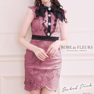 ROBE - ROBE de FLEURS レースタイトドレス