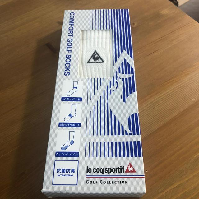 le coq sportif(ルコックスポルティフ)の紳士靴下ゴルフソックス メンズのレッグウェア(ソックス)の商品写真