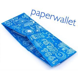 新作 Paper Wallet ブループリント ペーパーウォレット 新品未使用(折り財布)