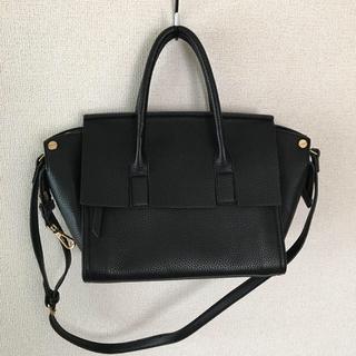 プレーンクロージング(PLAIN CLOTHING)のフラップハンドバッグ 黒(ハンドバッグ)
