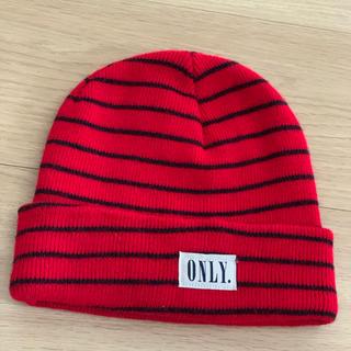 ビームス(BEAMS)のONLY ニット帽 ボーダー(ニット帽/ビーニー)