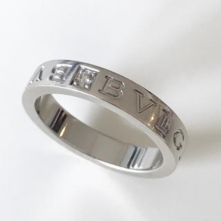 ブルガリ(BVLGARI)のブルガリ メンズリング 18Kホワイトゴールド+ダイヤモンド(リング(指輪))