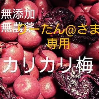 梅干し  無添加無農薬カリカリ梅(紫蘇)500g(漬物)