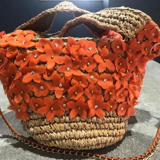 カズタカカトウ(KAZUTAKA KATOH)のカカトゥ ハンドバッグ 麦わら 新品未使用タグ付き(ハンドバッグ)