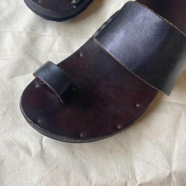 BIRKENSTOCK(ビルケンシュトック)のJUTTA NEUMANN ユッタニューマン レザーサンダル エルメス D9 メンズの靴/シューズ(サンダル)の商品写真