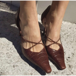 Ameri VINTAGE - アメリヴィンテージ CROSS POINTED PUMPS クロス パンプス M