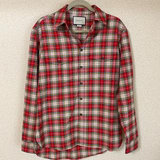 グッチ(Gucci)のGucci  蛇刺繍 チェックシャツ(シャツ)