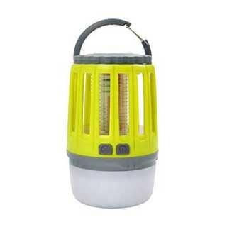 イエロー電撃殺虫器 蚊取り器 殺虫灯&照明両用 LEDランタン UV光源吸引式捕(その他)