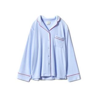 ジェラートピケ(gelato pique)の新品 パイル地 トップス シャツ 水色 ブルー メンズ(パーカー)