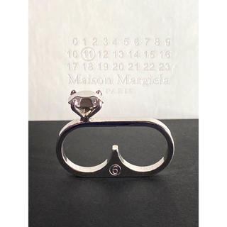 エムエムシックス(MM6)のMartin Margiela マルジェラ シルバー ダブル リング 指輪 美品(リング(指輪))