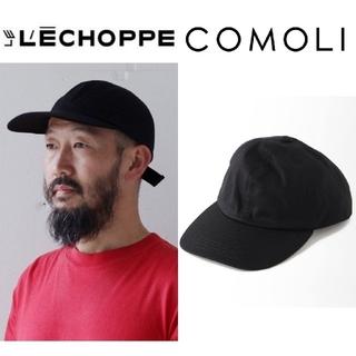 コモリ(COMOLI)の新品 LE / エルイー 6 PANEL CAP黒 レショップ ブラック(キャップ)