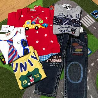 ダブルビー(DOUBLE.B)のミキハウス ダブルB  Tシャツ、パンツ80(Tシャツ)