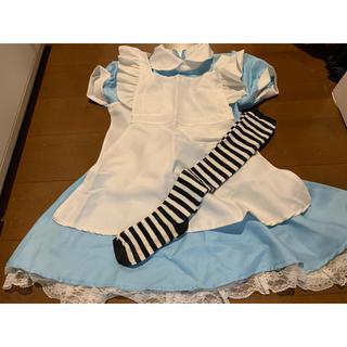 フシギノクニノアリス(ふしぎの国のアリス)のコスプレ 不思議の国のアリス風5点セット(衣装)
