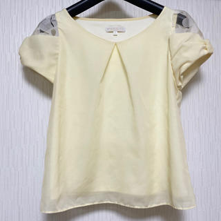 プロポーションボディドレッシング(PROPORTION BODY DRESSING)のプロポーションボディドレッシング 袖オーガンジー花柄デザインブラウス(シャツ/ブラウス(半袖/袖なし))