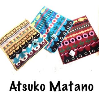 ニシカワ(西川)の新品未使用マタノアツコ タオルハンカチ3枚セット 黒猫 meme ハンドタオル(タオル/バス用品)