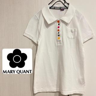 マリークワント(MARY QUANT)のマリークワント 美品 刺繍 ポロシャツ(ポロシャツ)