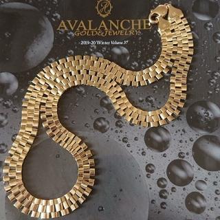 アヴァランチ(AVALANCHE)のアヴァランチ 10k YG ロレックスチェーン アバランチ k10 ネックレス(ネックレス)