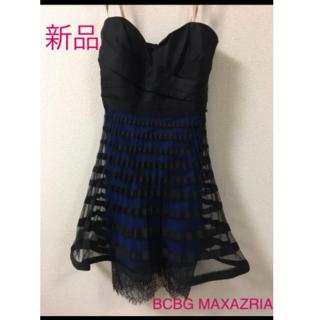 ビーシービージーマックスアズリア(BCBGMAXAZRIA)の新品タグ付 BCBG ベアトップドレス(ミニドレス)