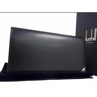 ダンヒル(Dunhill)のdunhill ダンヒル ロゴ レザー 二つ折り 長財布 メンズ   極美品(長財布)